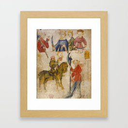 Gawain and the Green Knight Framed Art Print