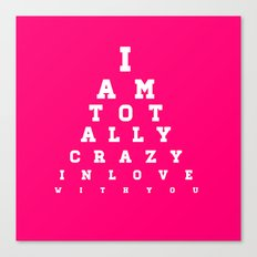 Crazy In Love Pink Canvas Print