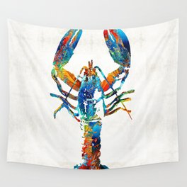 Colorful Lobster Art by Sharon Cummings Wall Tapestry