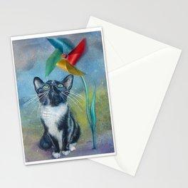 Pinwheel Kitty Stationery Cards