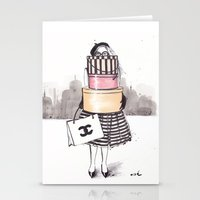 shopping Stationery Cards featuring Shopping Junkie by anna hammer