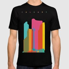 Shapes of Calgary Mens Fitted Tee LARGE Black