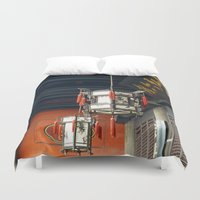 lanterns Duvet Covers featuring Chinese Lanterns by TenelArt