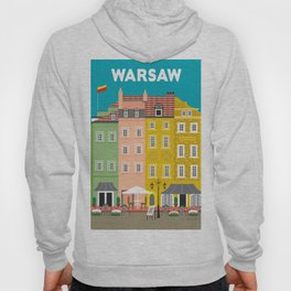 Warsaw, Poland - Skyline Illustration by Loose Petals Hoody