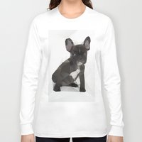 french bulldog Long Sleeve T-shirts featuring French Bulldog by Three of the Possessed
