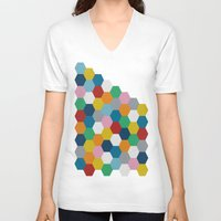 honeycomb V-neck T-shirts featuring Honeycomb 2 by Project M