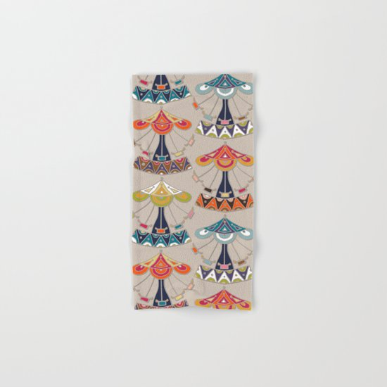 carousel damask Hand & Bath Towel