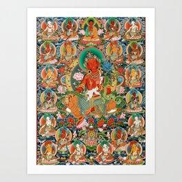 21 Taras Thangka Samantabhadra Varayogini Art Print