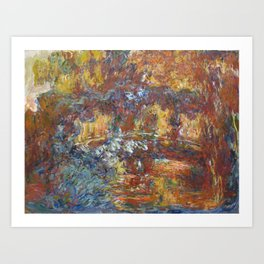 The Japanese Footbridge, Giverny, 1920 Art Print