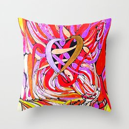 LUCHA DE PODER Throw Pillow