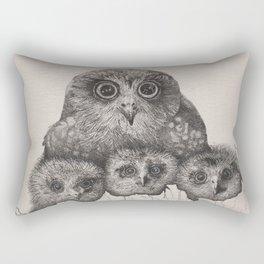 Peek-a-Boobook Rectangular Pillow