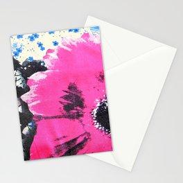 Pink Flower   fleur rose Stationery Cards