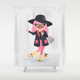 Rosy in Montreal Shower Curtain