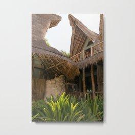 Beach Hut Metal Print