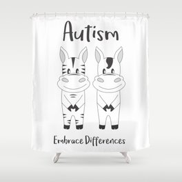 Autism Embrace Differences Shower Curtain