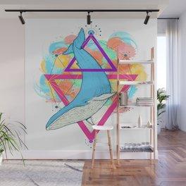 Blue Whale Design Wall Mural