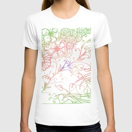 Floral Color Zenart Doodle Design 3 T-shirt