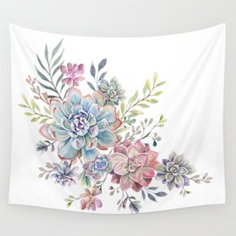 succulent watercolor 6 Wall Tapestry
