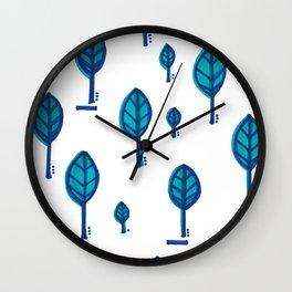 Standing Leaf Print Close Up Wall Clock