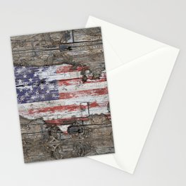 USA Map I Carry Your Heart With Me Stationery Cards