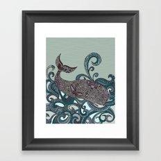 Deep Blue Me Framed Art Print