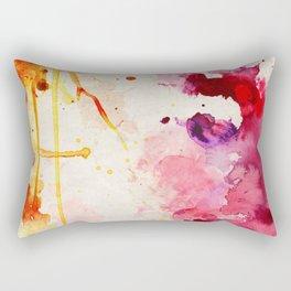Fuchsia & Orange Color Splash Rectangular Pillow
