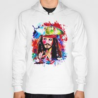 jack sparrow Hoodies featuring Captain Jack Sparrow by isabelsalvadorvisualarts