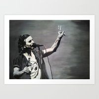 eddie vedder Art Prints featuring Eddie Vedder by Rhys Barney