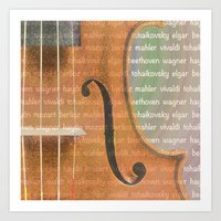 violin Art Prints featuring Violin by Imagology