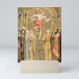 12,000pixel-500dpi - William Blake - Sealing the Stone and Setting a Watch - Digital Remastered Mini Art Print