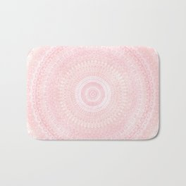Pastel Pink Mandala Badematte