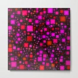 Post It Pink Glow Metal Print
