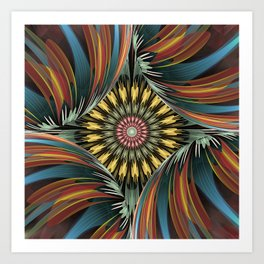 Peeping in, artistic floral design Art Print
