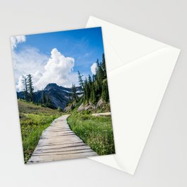 towards the mountains Stationery Cards