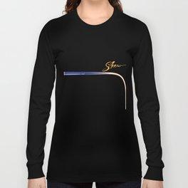 Funny billiards skew cue Shirt pool snooker player Long Sleeve T-shirt