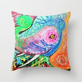 Painted Pachyderm Throw Pillow