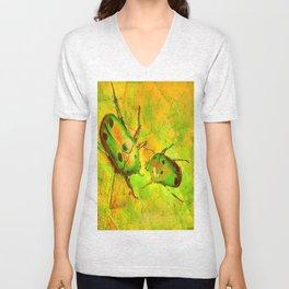 les amours des scarabées chinois Unisex V-Neck