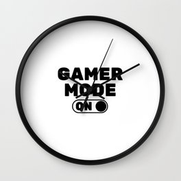 GAMER MODE ON Wall Clock
