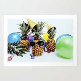 Pineapple Party Time Art Print