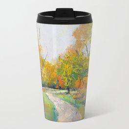 Autumn Woodland Path Travel Mug