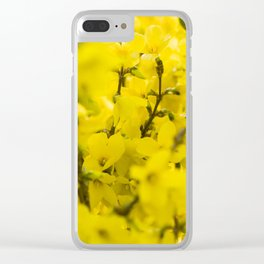 Yellow spring blooming Clear iPhone Case