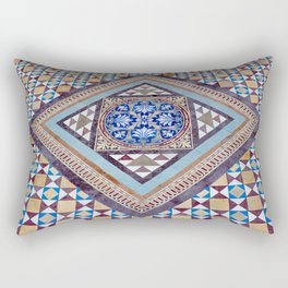 Beautiful, Traditional, Indian Tile Work in Hyderabad, India Rectangular Pillow
