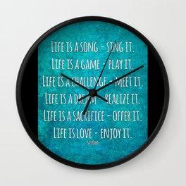 Life is love - enjoy it Wall Clock