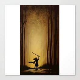 Victory over the darkness Canvas Print