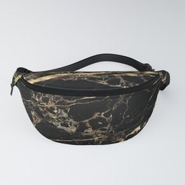 Marble, Black + Gold Veins Fanny Pack