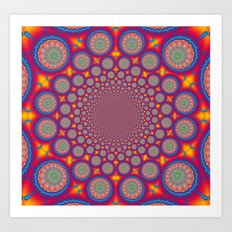 BBQSHOES: Wheels Of Time II Fractal Mandala Art Print