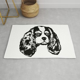 Cavalier King Charles Spaniel Dog Lover Gifts,Gift Wrapped For Christmas Rug