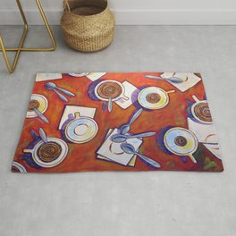 The Get Together ... Kitchen Coffee Cup Art Rug