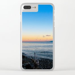 vancouver island sunset Clear iPhone Case