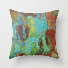 Expecting Clues Throw Pillow